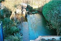 David Macdonald, BGS © NERC 2003, a garden in Oxford flooded by groundwater